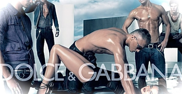 dolce and gabbana gang rape ad man woman suffering 2